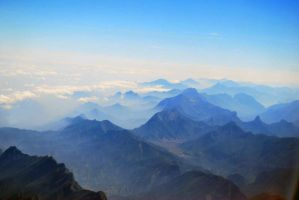 Blue Mountains and Clouds by warlike-magic