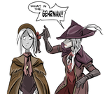 Lady Maria and the Doll by PawFeather