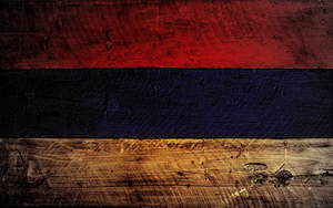 Wooden Serbian flag by Kacnepcku