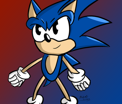 Clip Paint Studio Test Drawing - Sonic by SeiferA