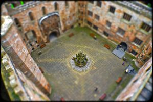 Linlithgow Palace courtyard...... Tilt-shift. by BusterBrownBB