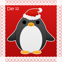 Christmas day 12: penguin by to-much-a-thing