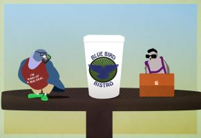 Hipster Pigeons by surlana