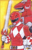 Red Power Ranger Austin St. John by ChrisOzFulton