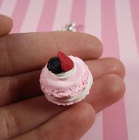 Pink French Macaroon Charm by FatallyFeminine