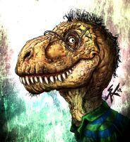 autoretrato version t.rex by SergChayote