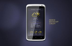 Android weather app concept by sneackeer
