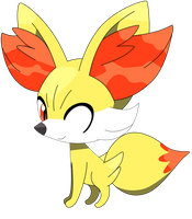 Fennekin sitting down pose, part one 6/37. by Flutterflyraptor