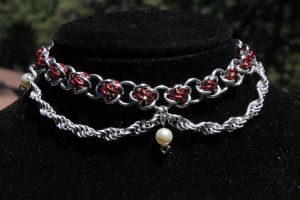 Deluxe roses choker by castratedmoose