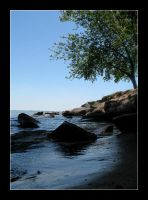 Rocky shore by MichelleMarie