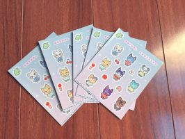 Physical Animal Crossing Sticker Sheet by dreamless-night-sky