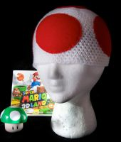 Mario Bros. Toad Beanie by rainbowdreamfactory
