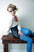 Blue tights overlap by burnnet