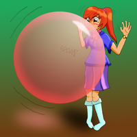 Bubble Gum Girl by PonFuusen