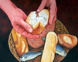 Loaves and Fishes by jfkpaint