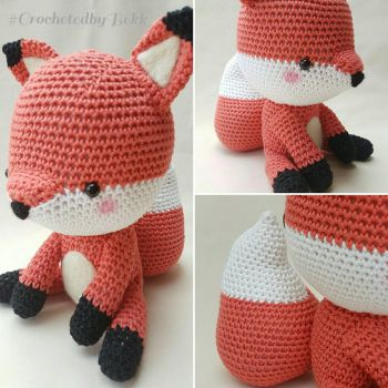 Mr. Fox  by CrochetedbyBekk