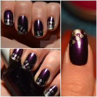 Purple and silver dots by siljejo96