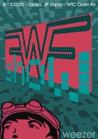 Weezer Show Poster in Japan by sampratot