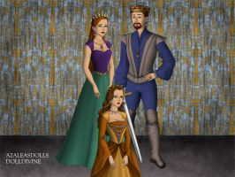 King Triton, Queen Athena, and Princess Attina. by Katharine-Elizabeth