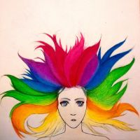 Colourful girl by HubblezXXI