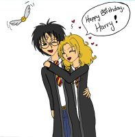 Happy Birthday Harry by LindyArt
