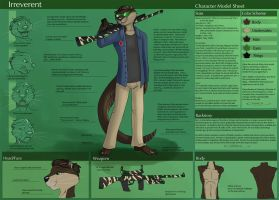[Commission] Irreverent - Character Sheet by Ulario