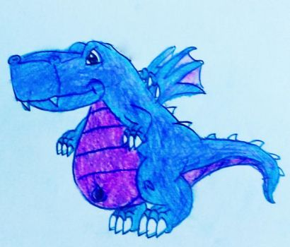 request 179:blue and purple dragon by s3be