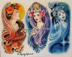 Trio by Artistic-Tattooing