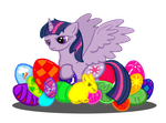 Happy Easter From Twilight Sparkle by GlacialFalls