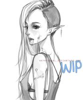 Marceline WIP by waywardgal