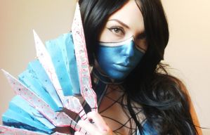 Kitana Cosplay Makeup  Body paint by marymakeup