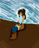 Korra hanging out by KikioSapphire