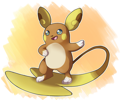 Alola Raichu by Quarbie