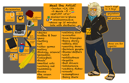 Meet the artist 2017 by snakes-on-a-plane