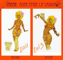 Meme before after Aube Epine by Tiger-Lilyy