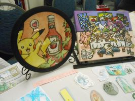 Two of my Pokemon Paintings by starbuxx