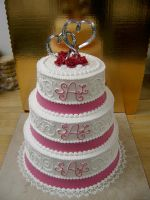 monogram wedding cake by The-EvIl-Plankton