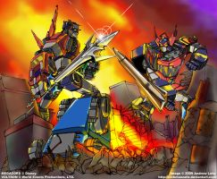 Super Robot Showdown by rockmanzallz