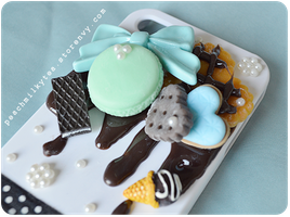 Chocolate Mint iPhone 4/4s Decoden case 02 by PeachMilktea
