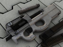 Fn P90 highpoly by MrSmive