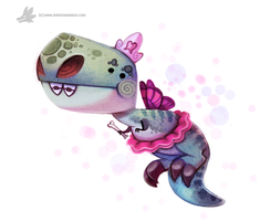 Daily Painting #910 Dinosaur Tooth Fairy by Cryptid-Creations
