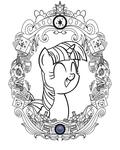 Twilight Vintage Profile (Line Art) by Template93