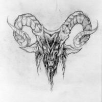 Goat Tattoo 1 by myiasis