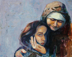 Refugee Mother and Child by SamanthaLi