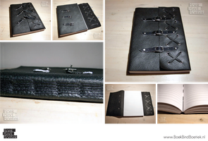 Black faux-leather notebook by Marenne