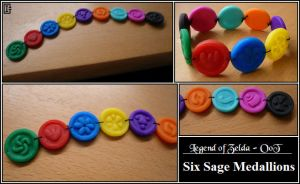 Zelda - Six Sage Medallions by Riomy