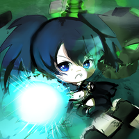 Black rock Shooter Chibi by InsainlyColorful