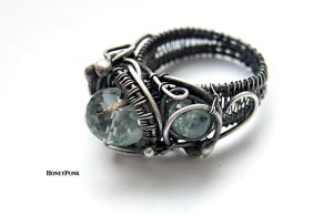 Ring wire wra silver sterling Sirena by honeypunk