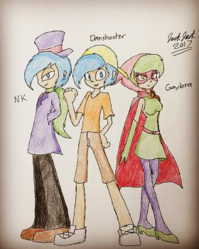 Danshooter and his Team: Human Form by JackJack2017