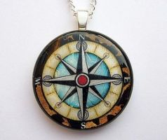 A Nautical Compass Pendant by luminarydreams
